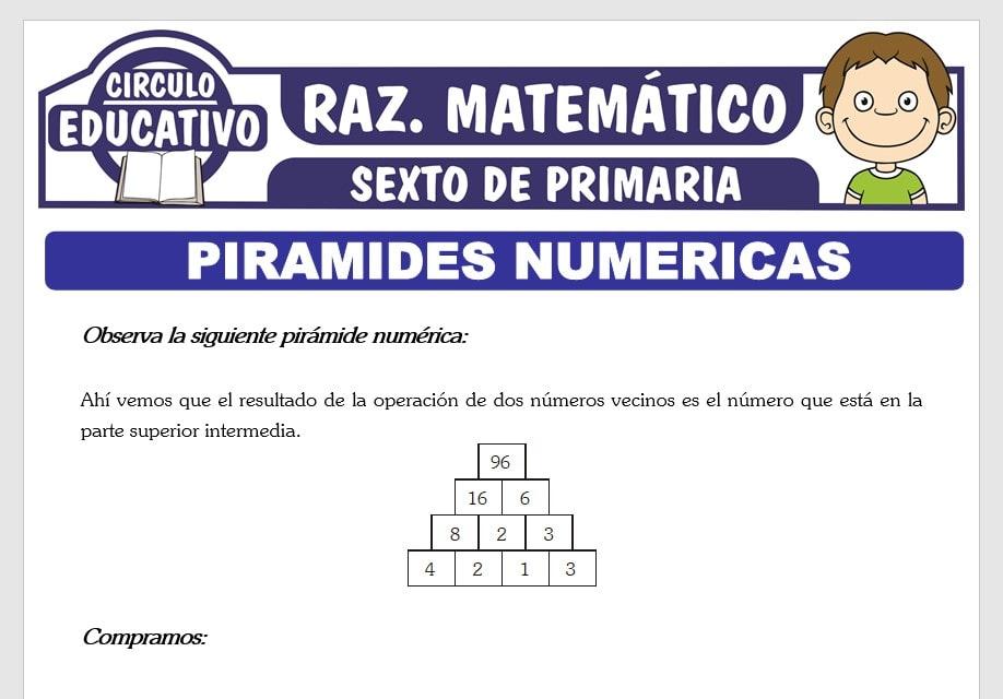 Actividades de Piramides Numéricas para Sexto de Primaria