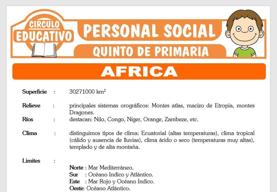 Africa para Quinto de Primaria