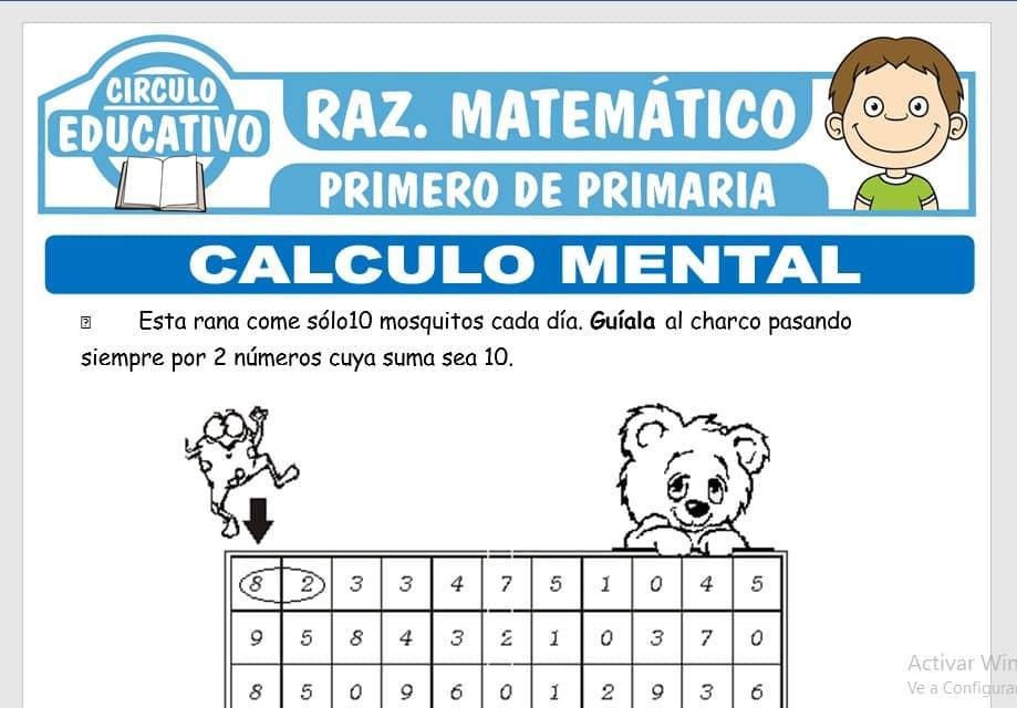 Cálculo Mental para Primero de Primaria