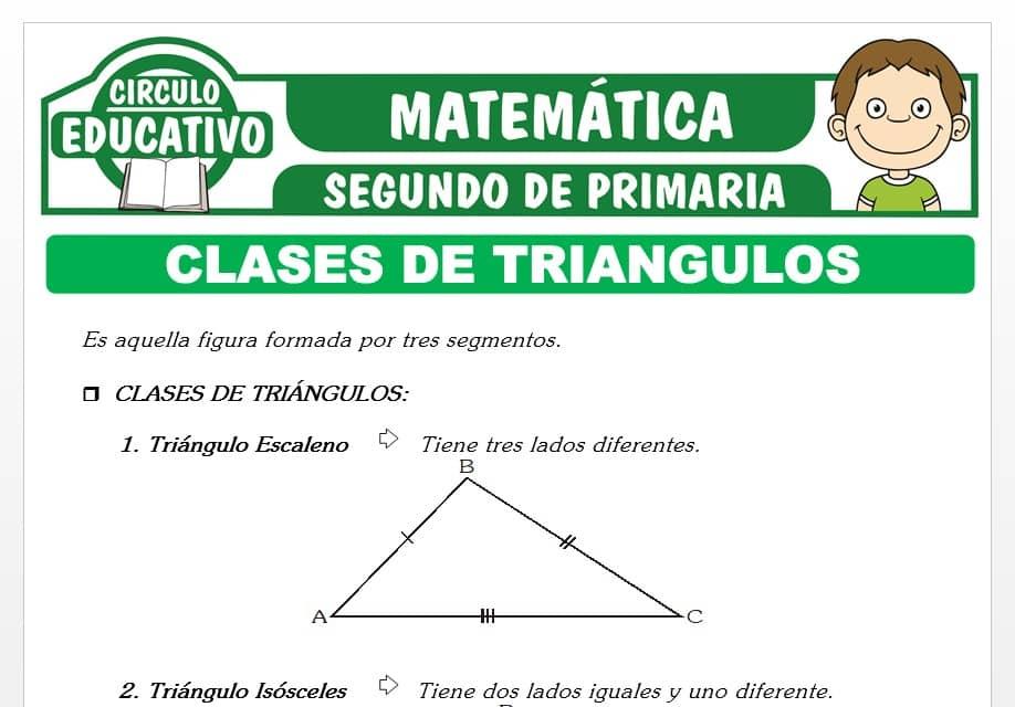 Clases de Triángulos para Segundo de Primaria