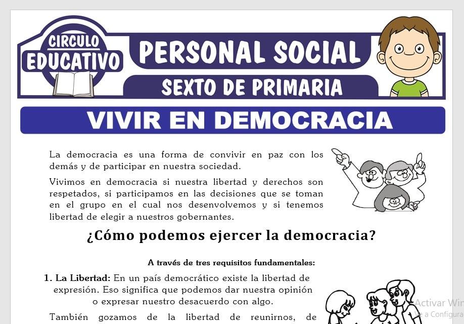 Cómo Podemos Ejercer la Democracia para Sexto de Primaria