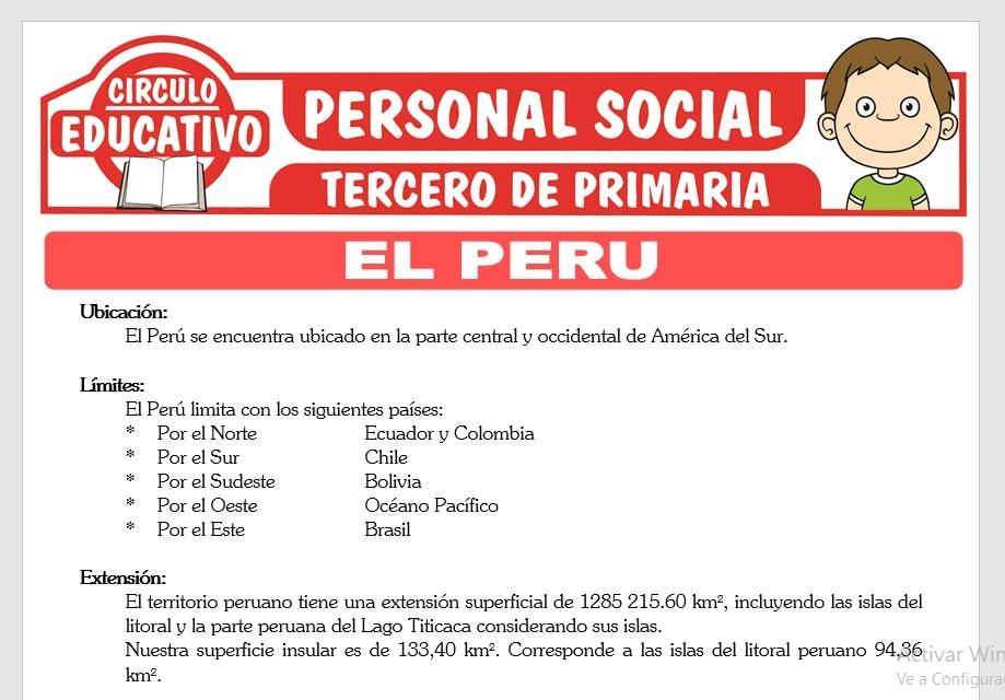 Conociendo el Perú para Tercero de Primaria