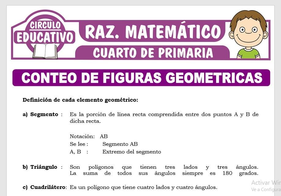 Conteo de Figuras Geométricas para Cuarto de Primaria