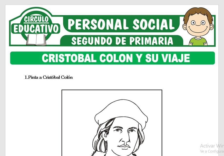 Cristobal Colon y su Viaje para Segundo de Primaria