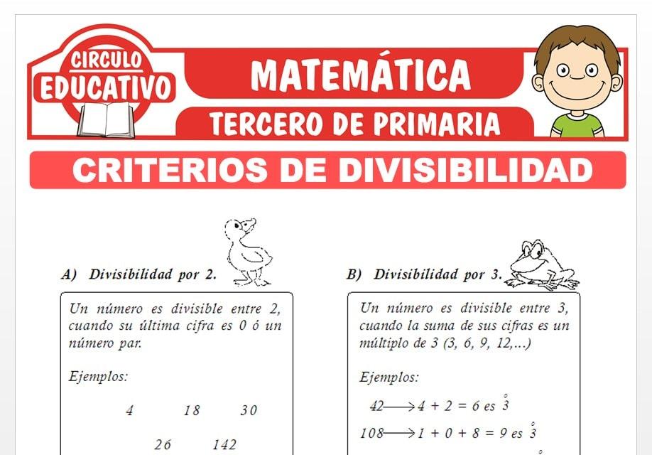 Criterios de Divisibilidad para Tercero de Primaria