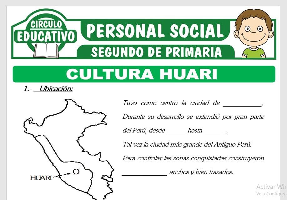 Cultura Huari para Segundo de Primaria