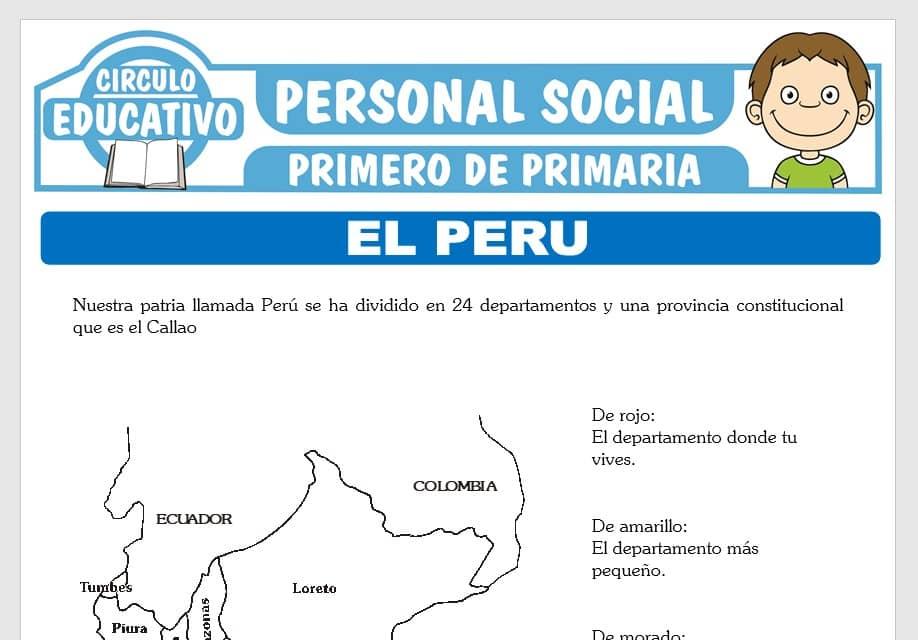 Departamentos del Perú para Primero de Primaria