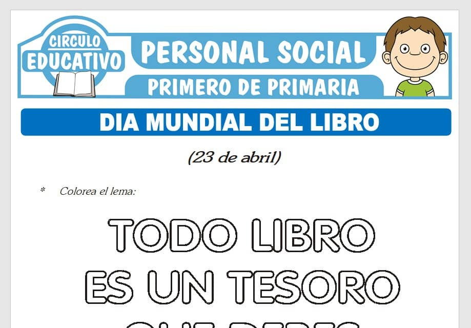 Día Mundial del Libro para Primero de Primaria