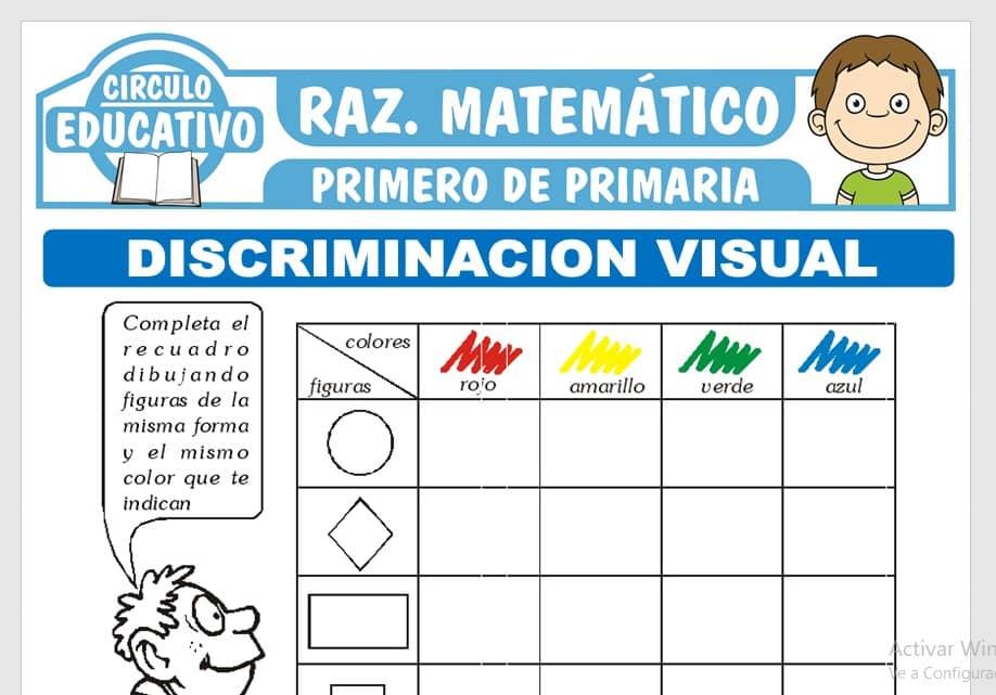 Discriminación Visual para Primero de Primaria