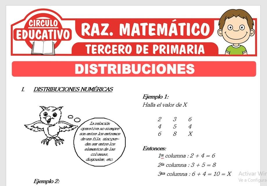 Distribuciones Numéricas y Gráficas para Tercero de Primaria