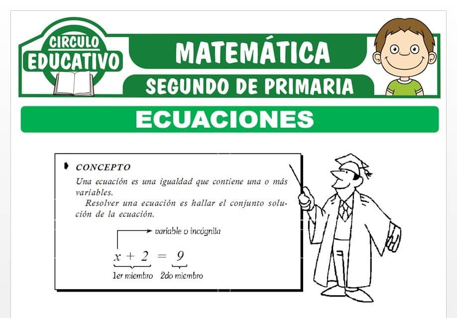 Ecuaciones para Segundo de Primaria