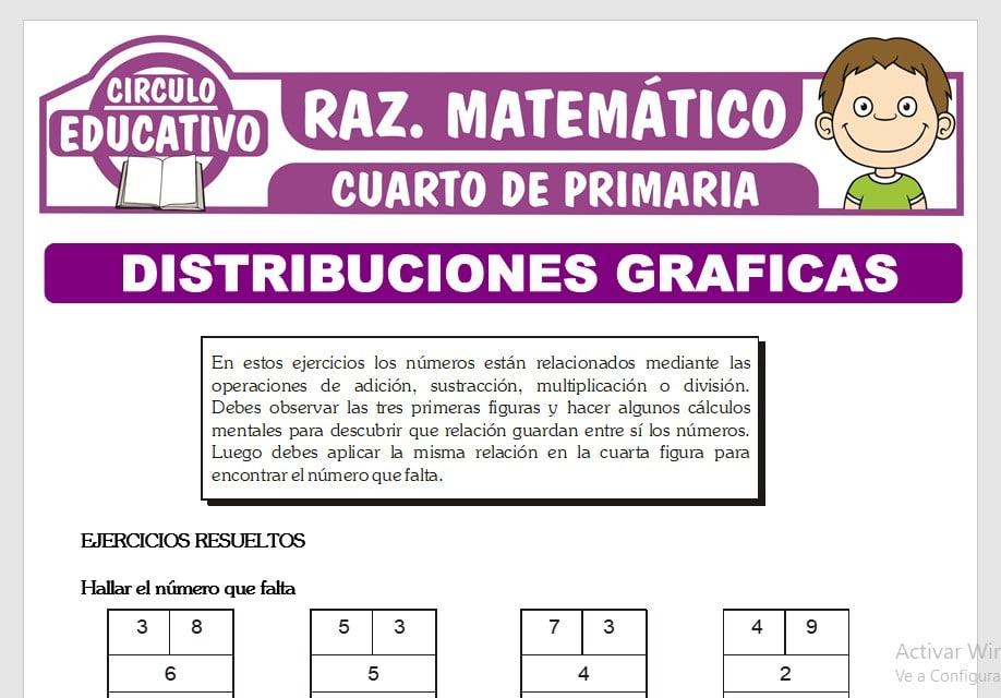 Ejercicios de Distribuciones Gráficas para Cuarto de Primaria