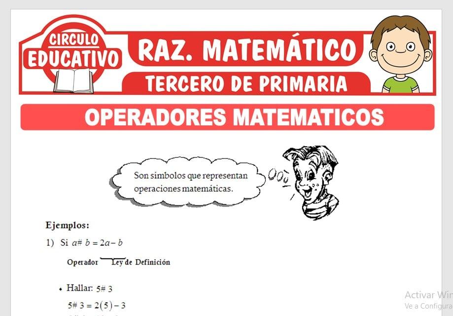 Ejercicios de Operadores Matemáticos para Tercero de Primaria