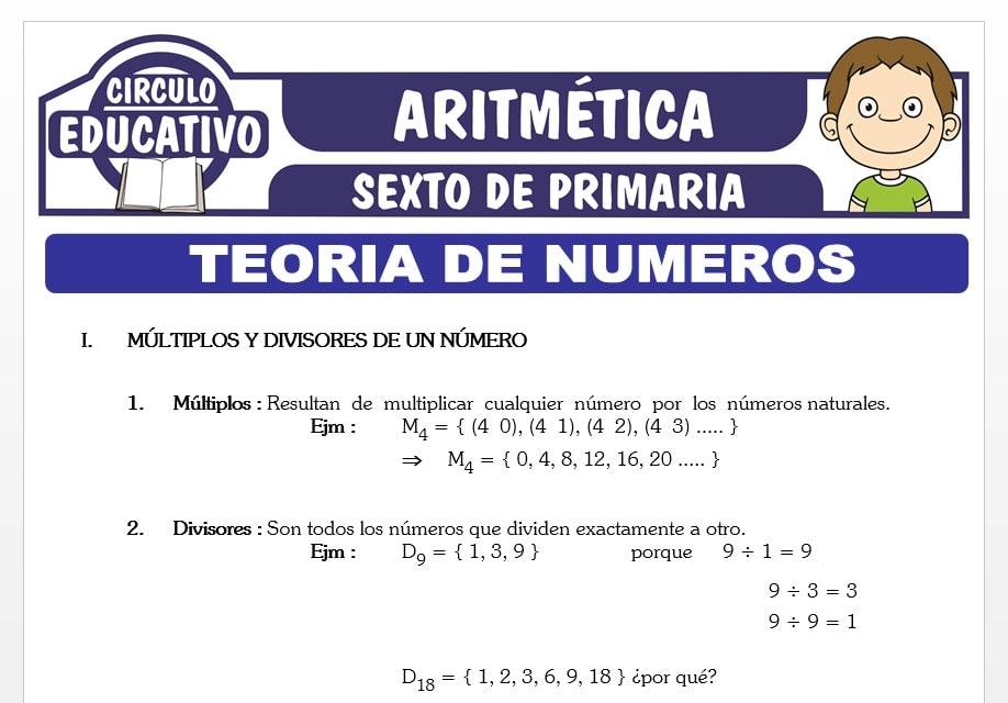 Ejercicios de Teoría de Números para Sexto de Primaria