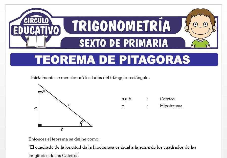 Ejercicios del Teorema de Pitágoras para Sexto de Primaria