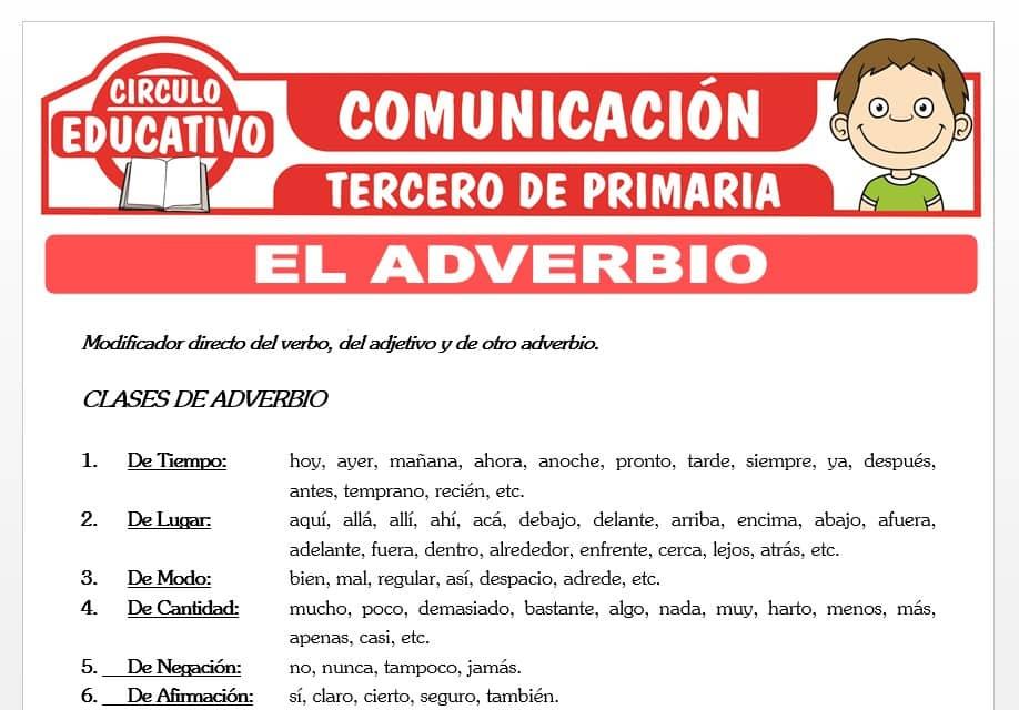 El Adverbio para Tercero de Primaria