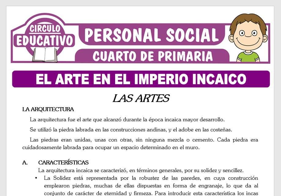 El Arte en el Imperio Incaico para Cuarto de Primaria