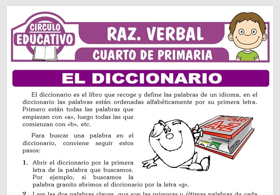 El Diccionario para Cuarto de Primaria
