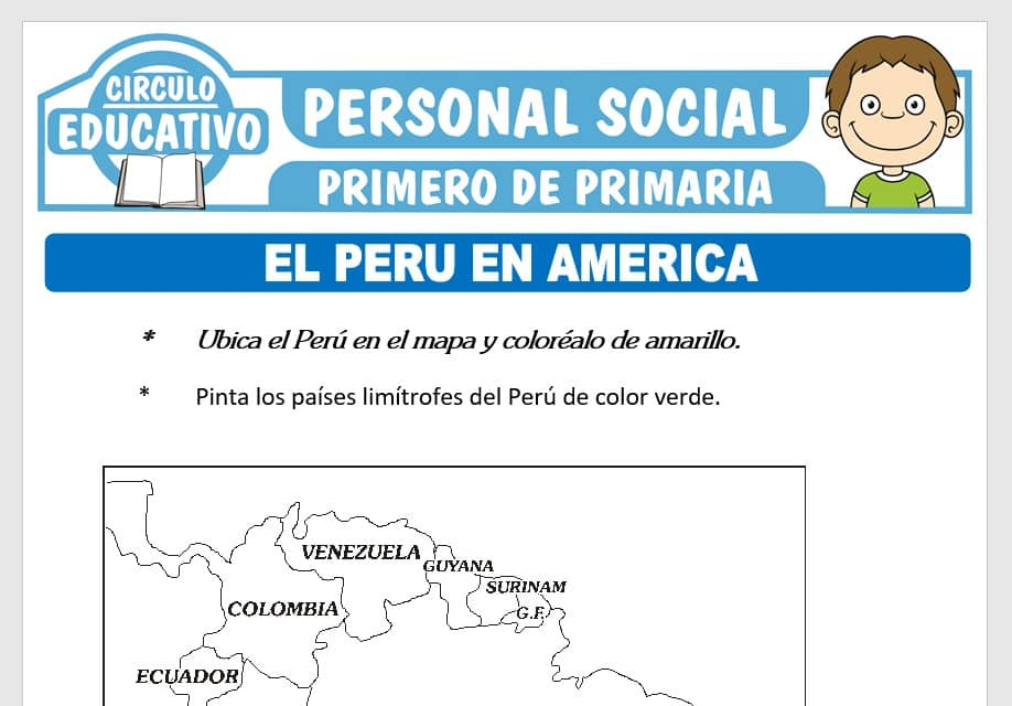El Perú en América para Primero de Primaria