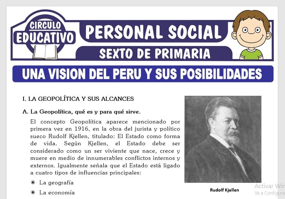 El Perú y sus Posibilidades para Sexto de Primaria