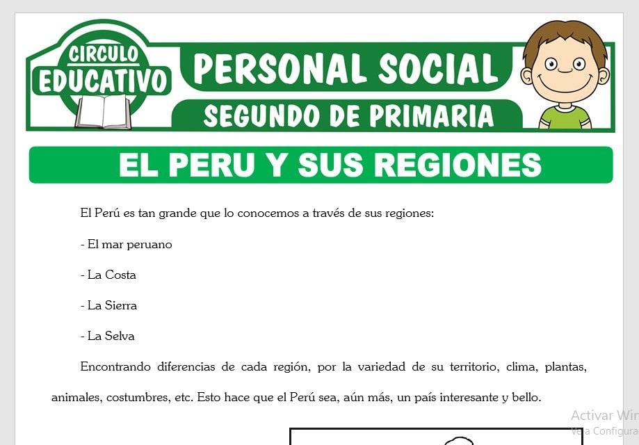 El Perú y sus Regiones para Segundo de Primaria