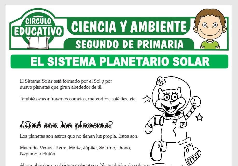 El Sistema Planetario Solar para Segundo de Primaria