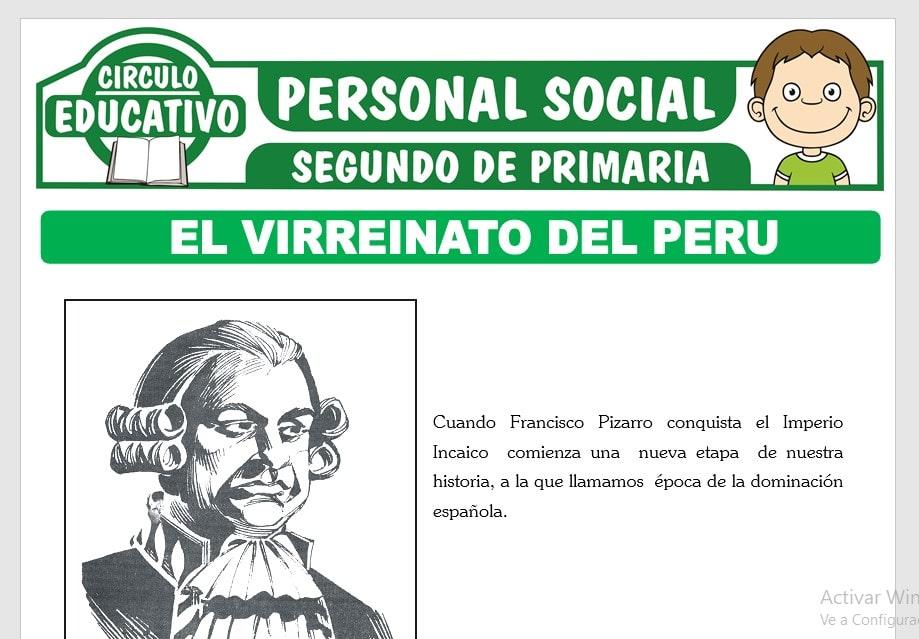 El Virreinato del Perú para Segundo de Primaria