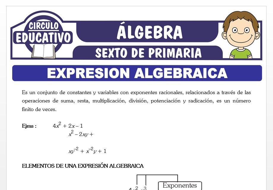 Expresión Algebraica para Sexto de Primaria