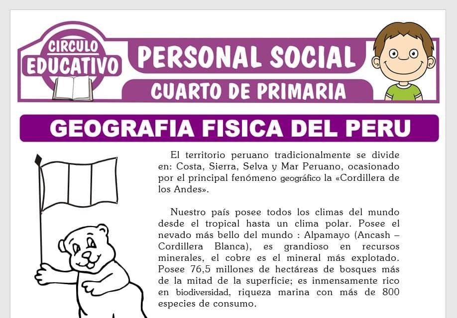 Geografía Física del Perú para Cuarto de Primaria