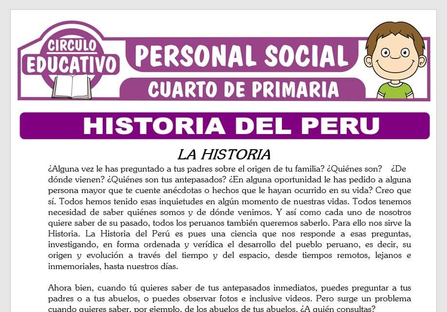 Historia del Peru para Cuarto de Primaria