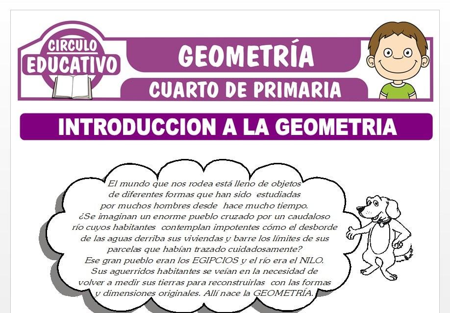 Introducción a la Geometría para Cuarto de Primaria