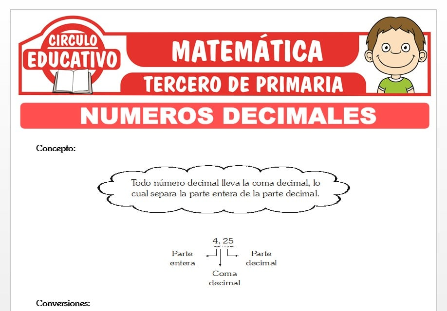 Introducción a los Números Decimales para Tercero de Primaria