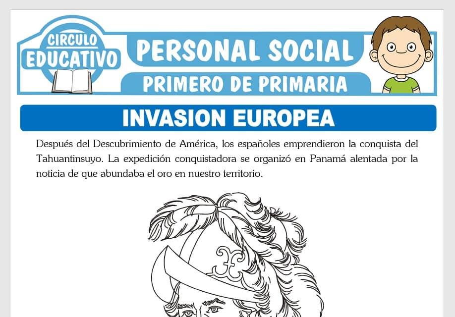 Invasión Europea para Primero de Primaria