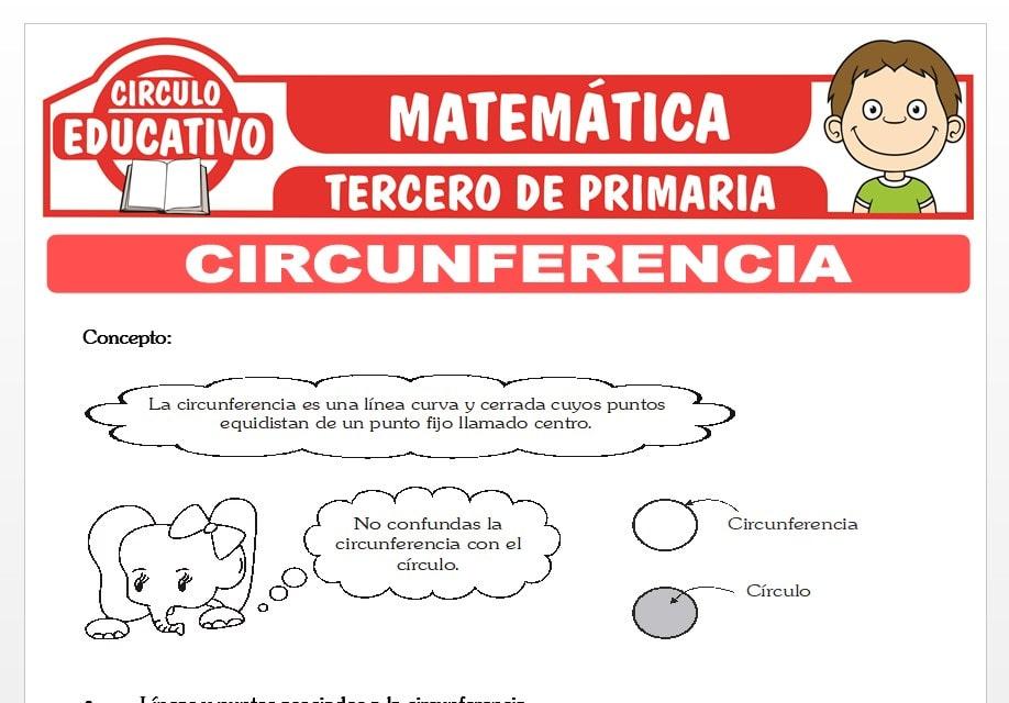 La Circunferencia para Tercero de Primaria