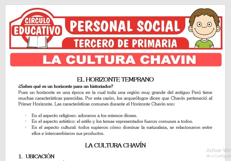 La Cultura Chavin para Tercero de Primaria