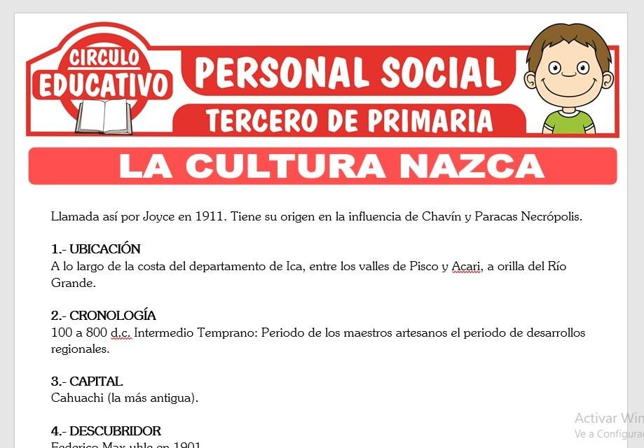 La Cultura Nazca para Tercero de Primaria