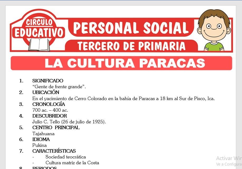 La Cultura Paracas para Tercero de Primaria