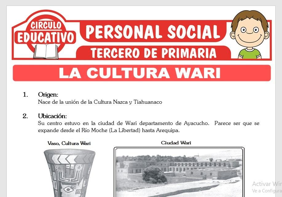 La Cultura Wari para Tercero de Primaria