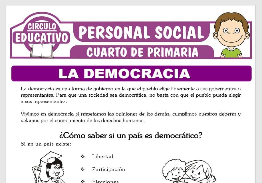 La Democracia para Cuarto de Primaria