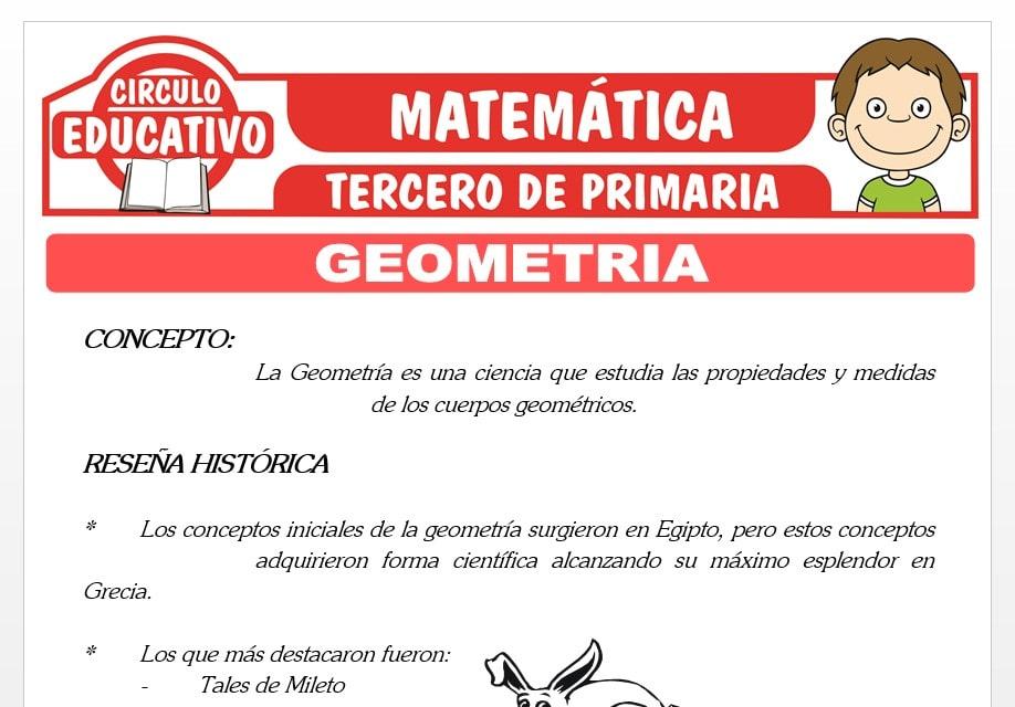La Geometría y sus Elementos para Tercero de Primaria