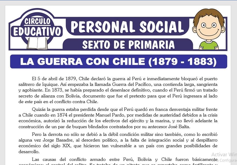 La Guerra con Chile para Sexto de Primaria