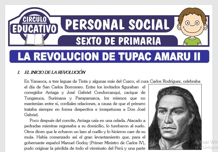 La Revolución de Tupac Amaru II para Sexto de Primaria