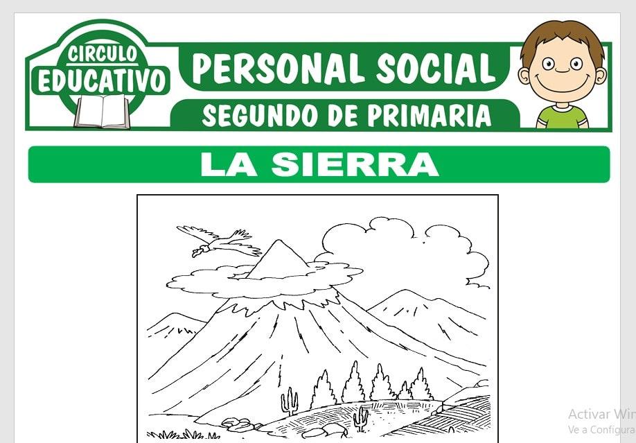 La Sierra para Segundo de Primaria