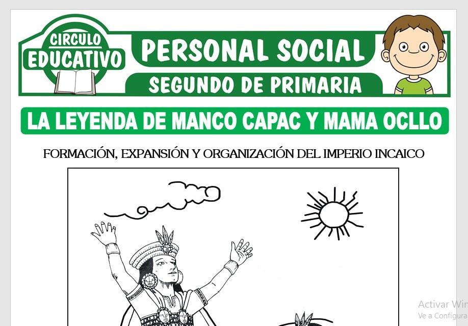 Leyenda de Manco Capac y Mama Ocllo para Segundo de Primaria