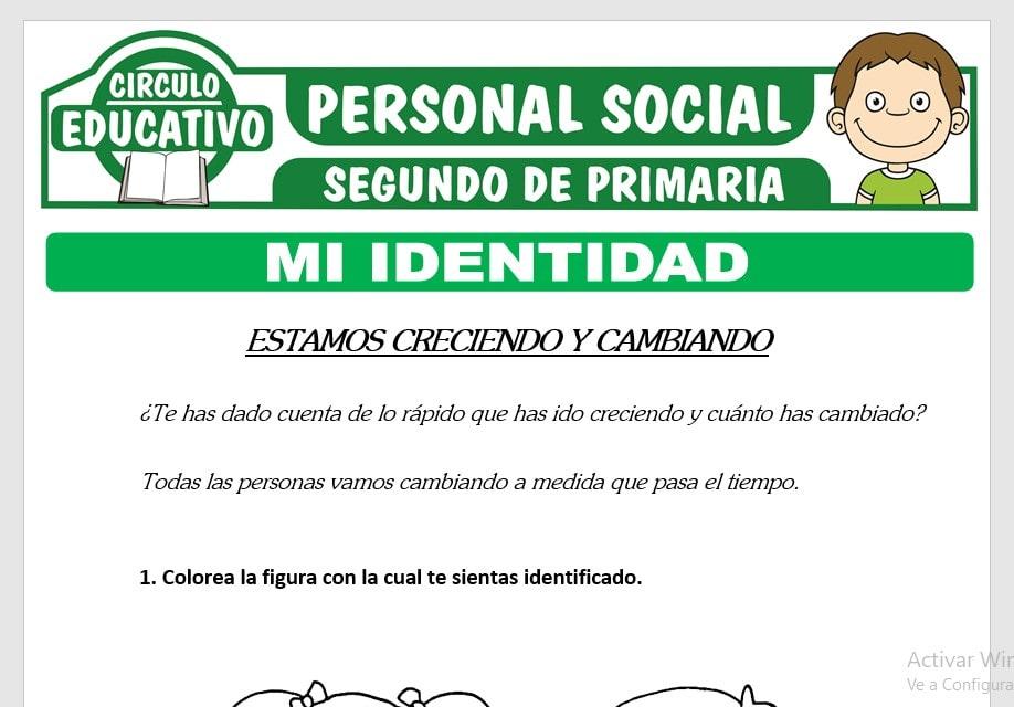 Mi Identidad para Segundo de Primaria
