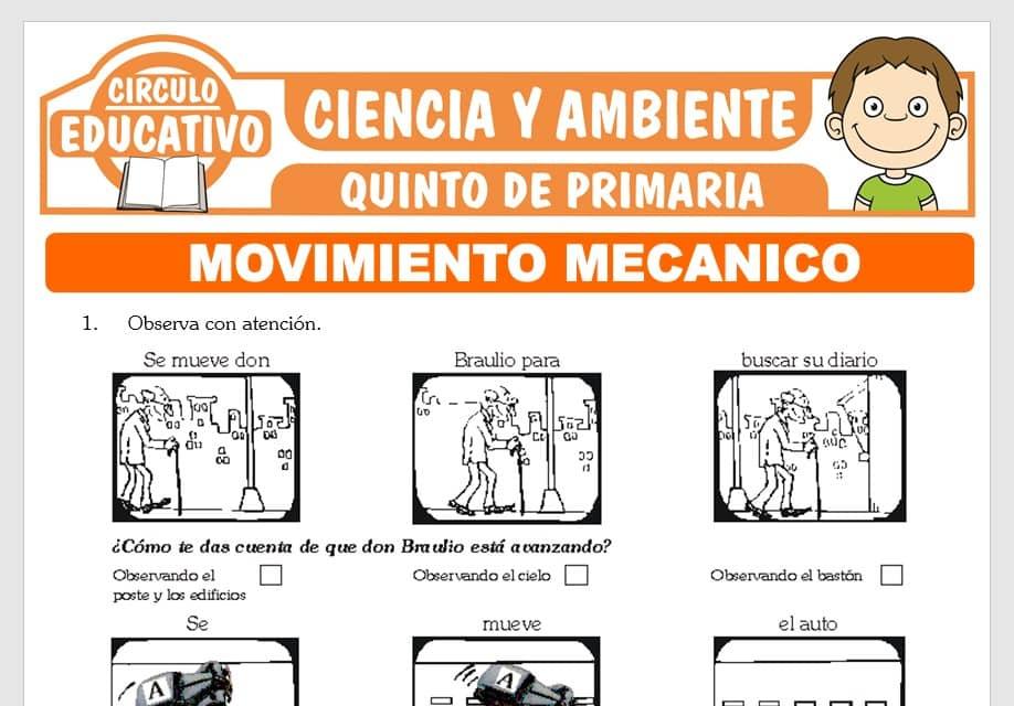 Movimiento Mecánico para Quinto de Primaria