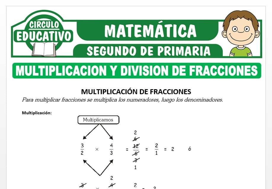 Multiplicación y División de Fracciones para Segundo de Primaria