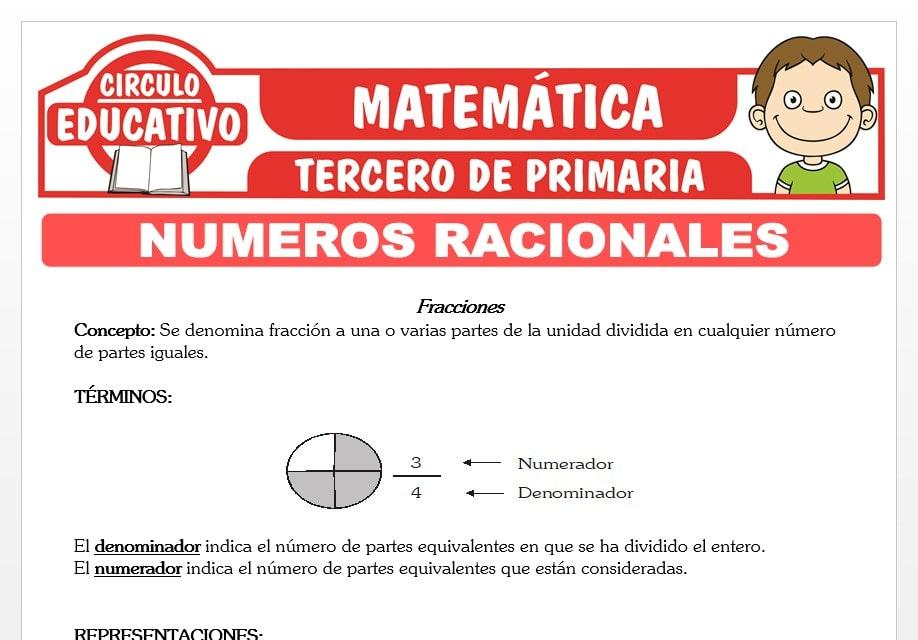 Números Racionales para Tercero de Primaria
