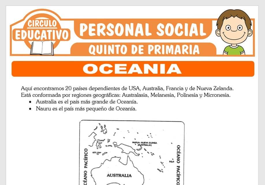 Oceania para Quinto de Primaria