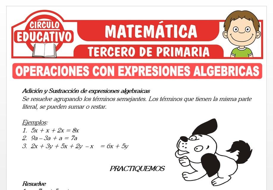 Operaciones con Expresiones Algebraicas para Tercero de Primaria